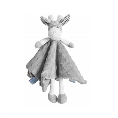 itti bitti giraffe comforter baby toy grey