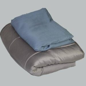 Bamboo Weighted Blanket Steel Blue Set