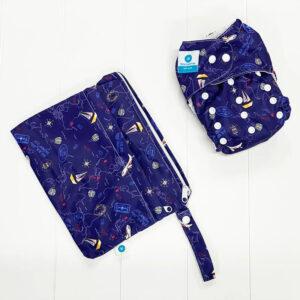 itti bitti bare essentials nappy with wetbag travel