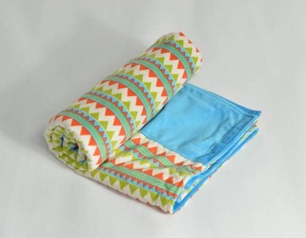 itti bitti Blanket TeePee with Azure Contrast