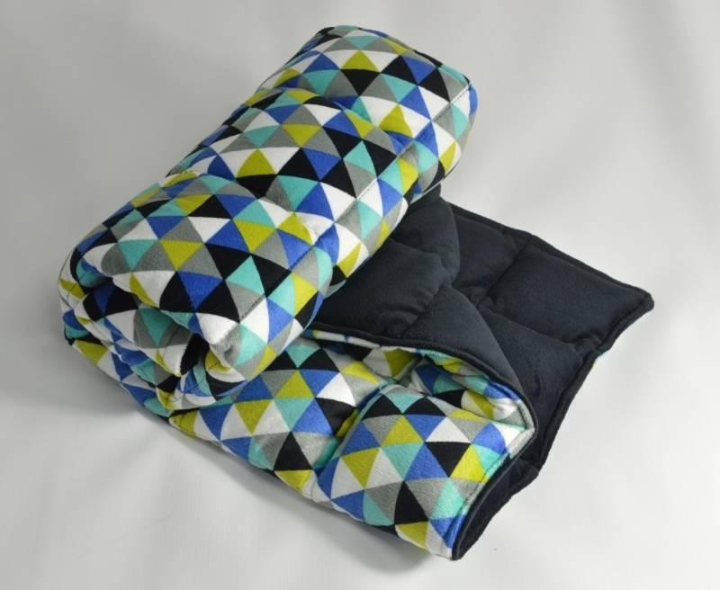 itti bitti minkee weighted blanket heron with midnight contrast