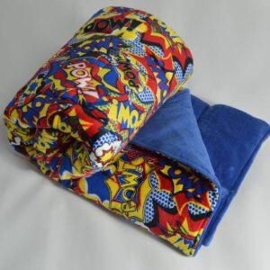 itti bitti minkee weighted blanket pow with atlantis contrast