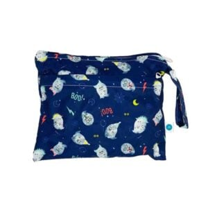 itti bitti small double pocket wetbag spooky