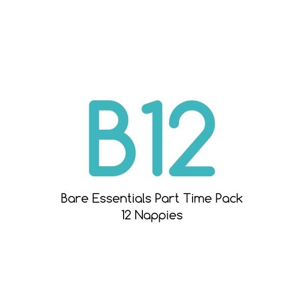 B12 - Bare Essentials Bamboo Part Time Pack - 12 nappies  