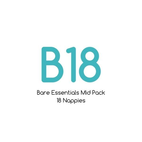 B18 - Bare Essentials Mid Pack - 18 nappies |