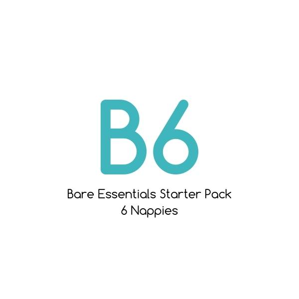 B06 - Bare Essentials Bamboo Starter Pack - 6 nappies |