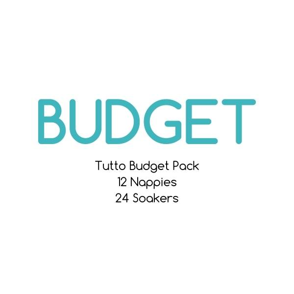 BUDGET - Tutto Budget Full Time Pack - 12 Shells with 24 Soaker Sets |