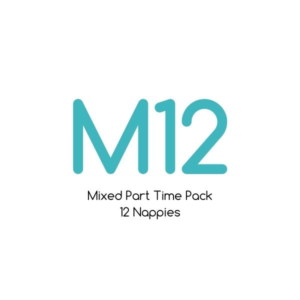 M12 - Mixed Part Time Pack - Bare Essentials & Tutto - 12 Nappies | One Size Fits Most Trial Pack