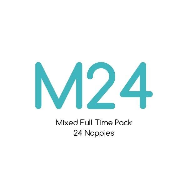 M24 - Mixed Full Time Pack - Bare Essentials & Tutto - 24 Nappies | One Size Fits Most