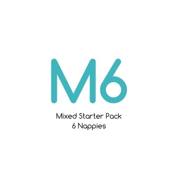 M06 - Mixed Starter Pack - Bare Essentials & Tutto - 6 Nappies | One Size Fits Most Trial Pack