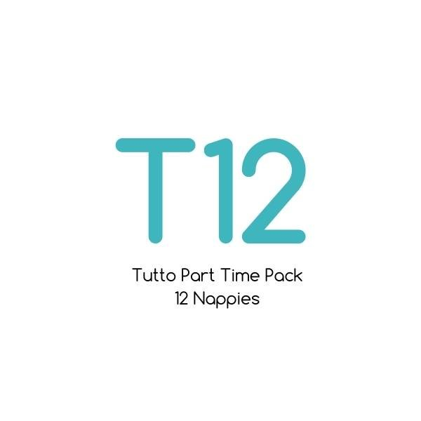 T12 - Tutto Part Time Pack - 12 nappies with bamboo soaker sets  
