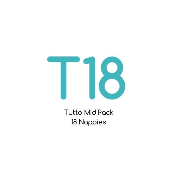 T18 - Tutto Mid Pack - 18 nappies with bamboo soaker sets |