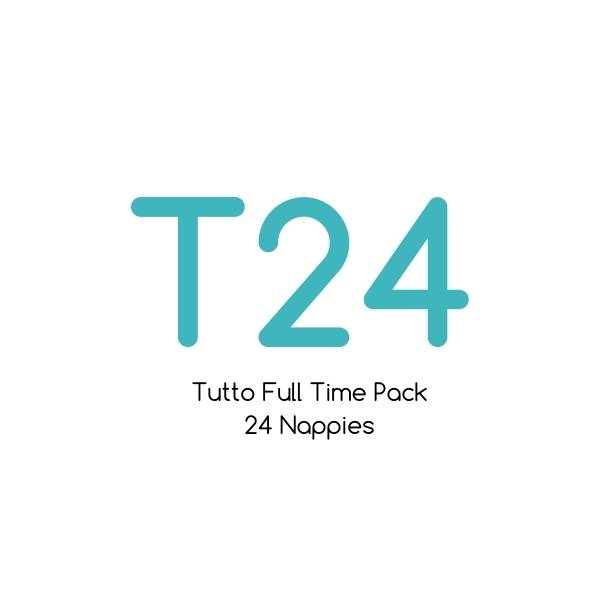 T24 - Tutto Full Time Pack - 24 nappies with bamboo soaker sets |