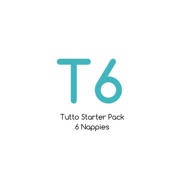 T6 - Tutto Starter Pack - 6 nappies with bamboo soaker sets |